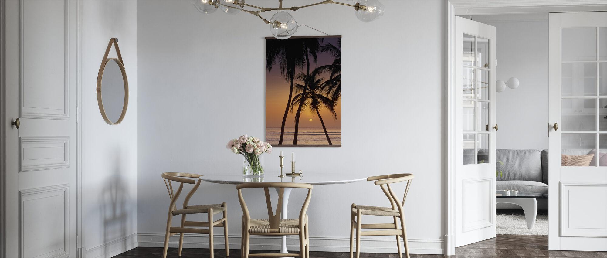 Caribische zonsondergang - Poster - Keuken