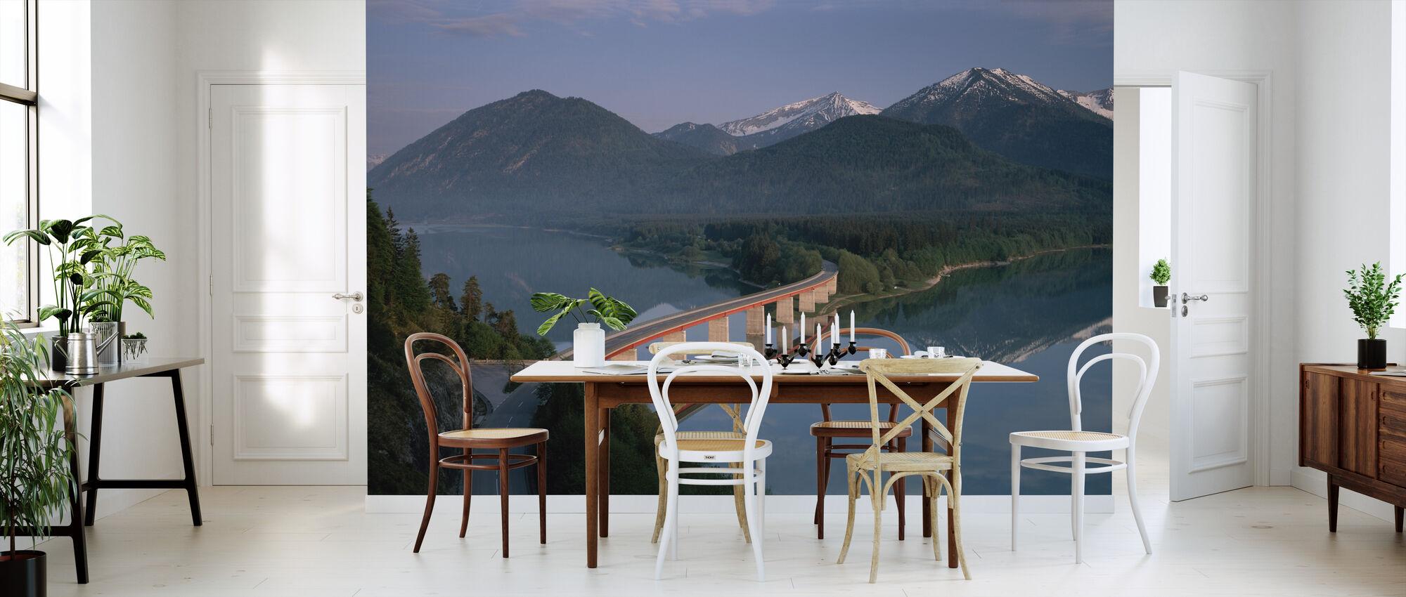 Bridge over Lake Sylvenstein - Wallpaper - Kitchen