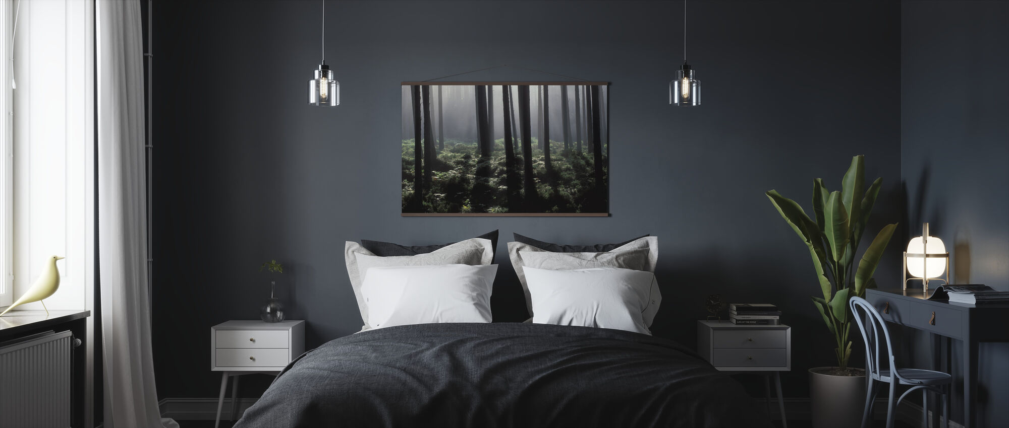 Backlit Forest - Poster - Bedroom