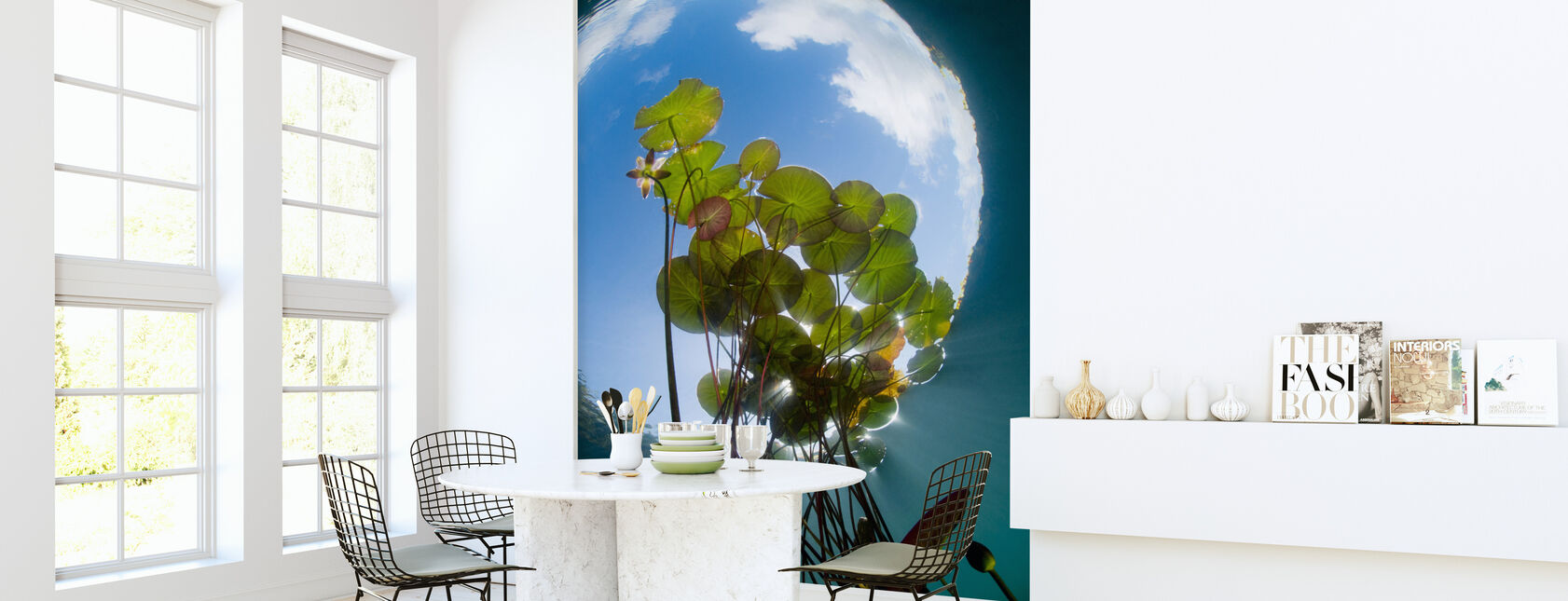 Floating Water Lilies - Wallpaper - Kitchen
