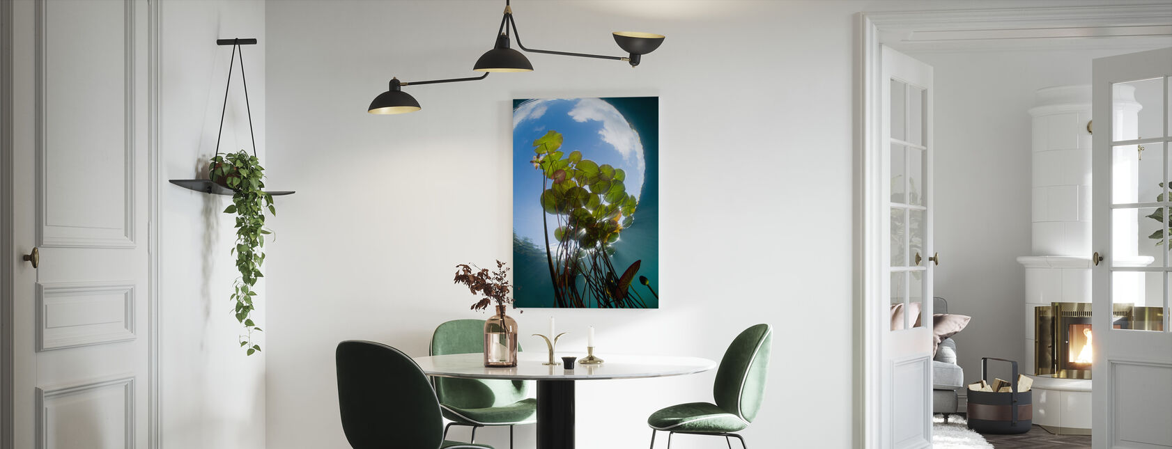 Floating Water Lilies - Canvas print - Kitchen