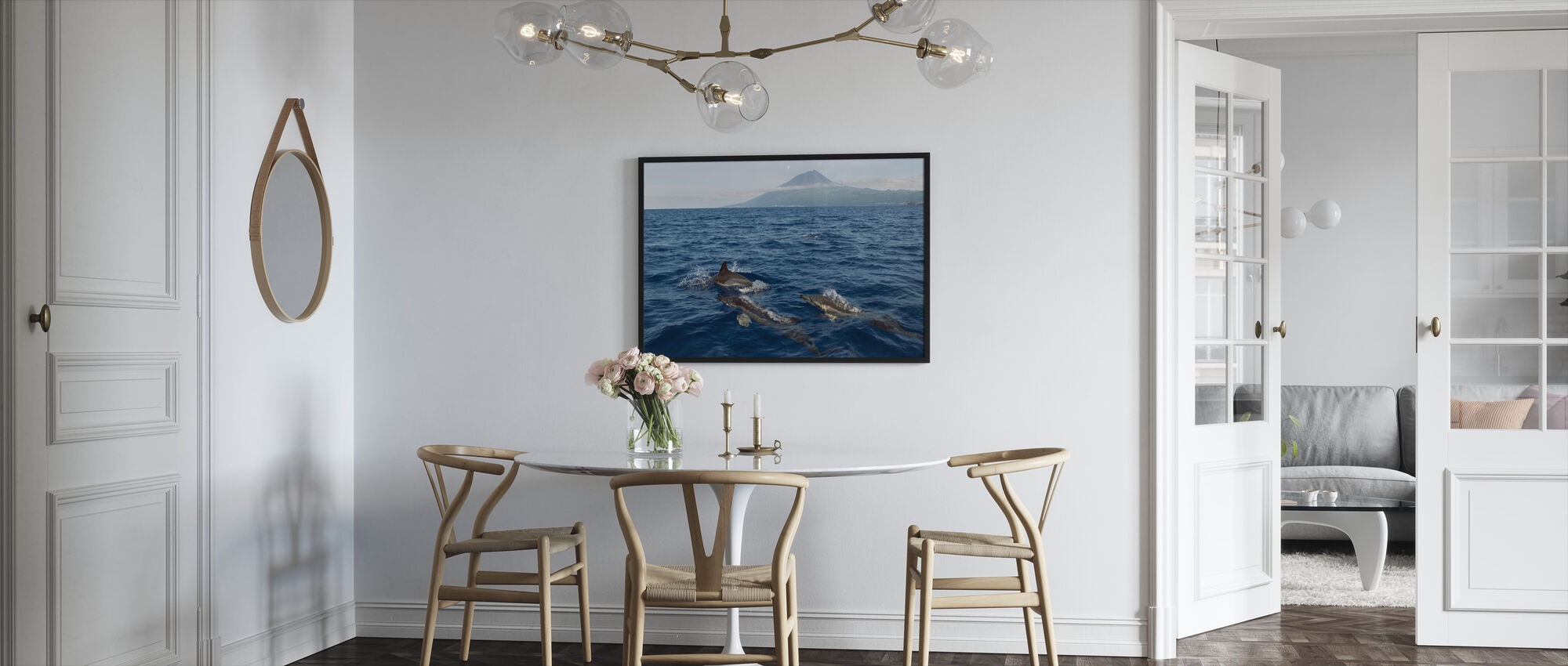 Dolphins in the Azores - Framed print - Kitchen