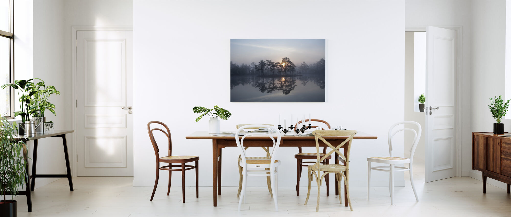 Lumoava sumu - Canvastaulu - Keittiö