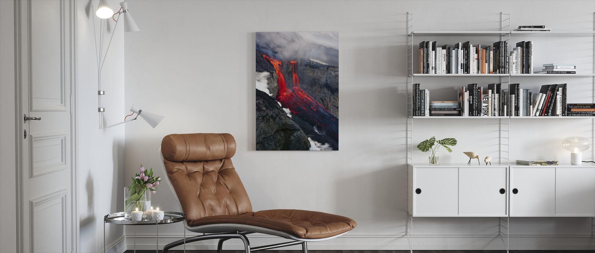 Liquid Fire - Canvas print - Living Room