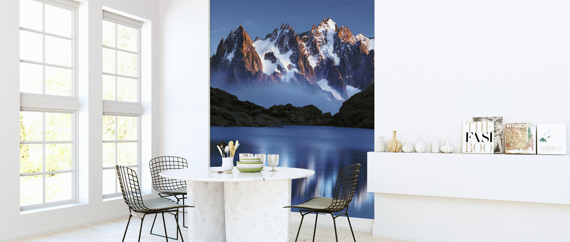 Blue Mountain Mirror - Wallpaper - Kitchen