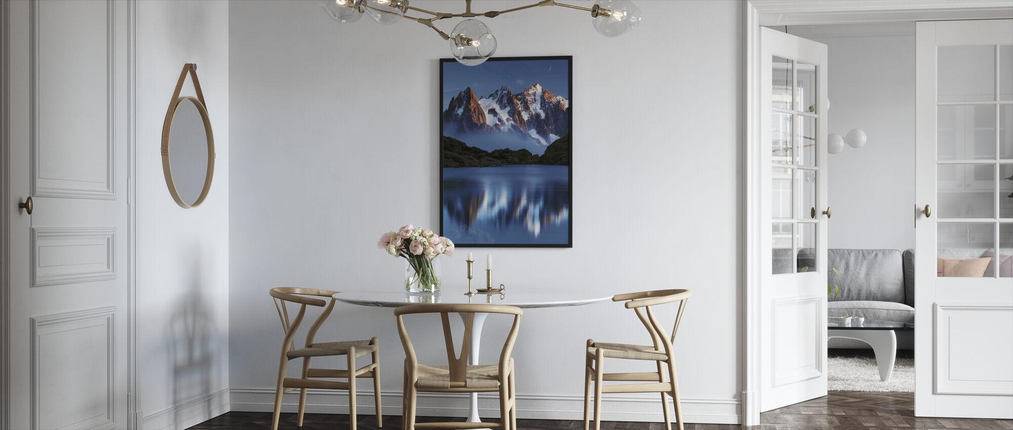 Blue Mountain Mirror - Framed print - Kitchen