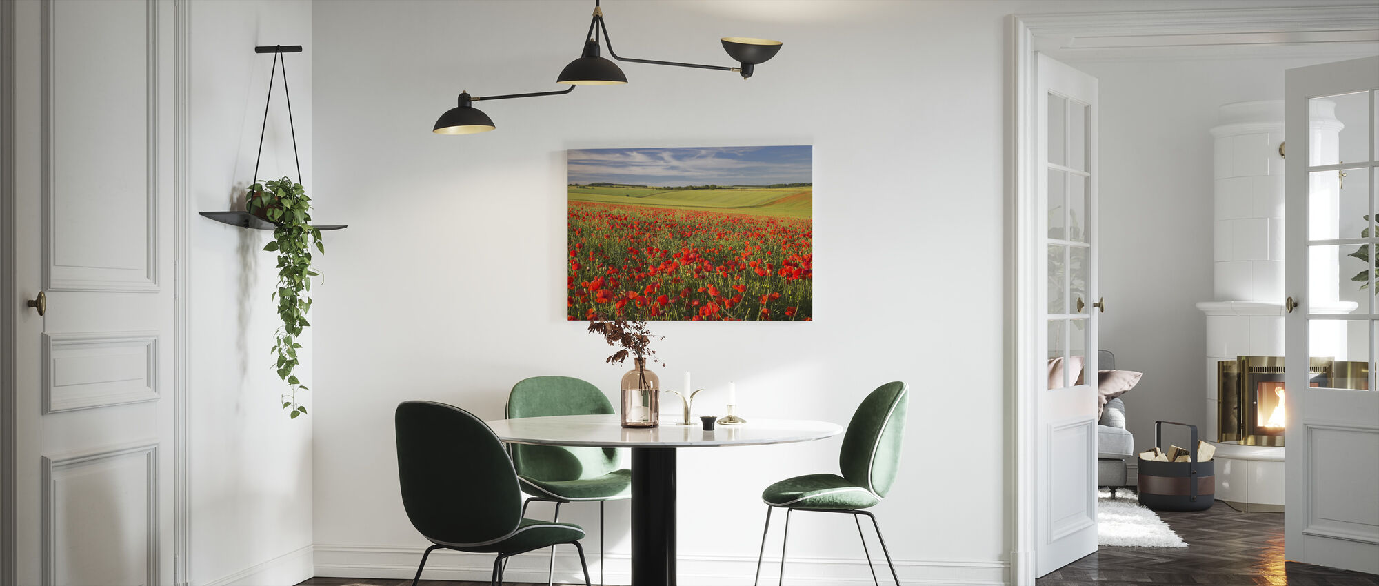 Sea of Poppies - Canvas print - Kitchen
