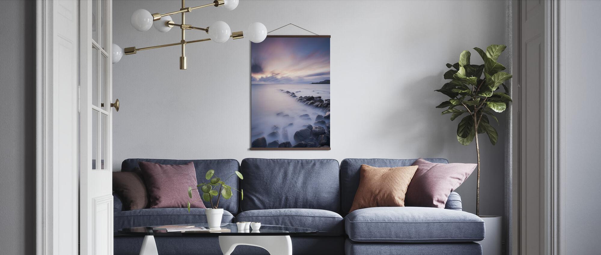 Kimmeridge Bay at Sunset - Poster - Living Room