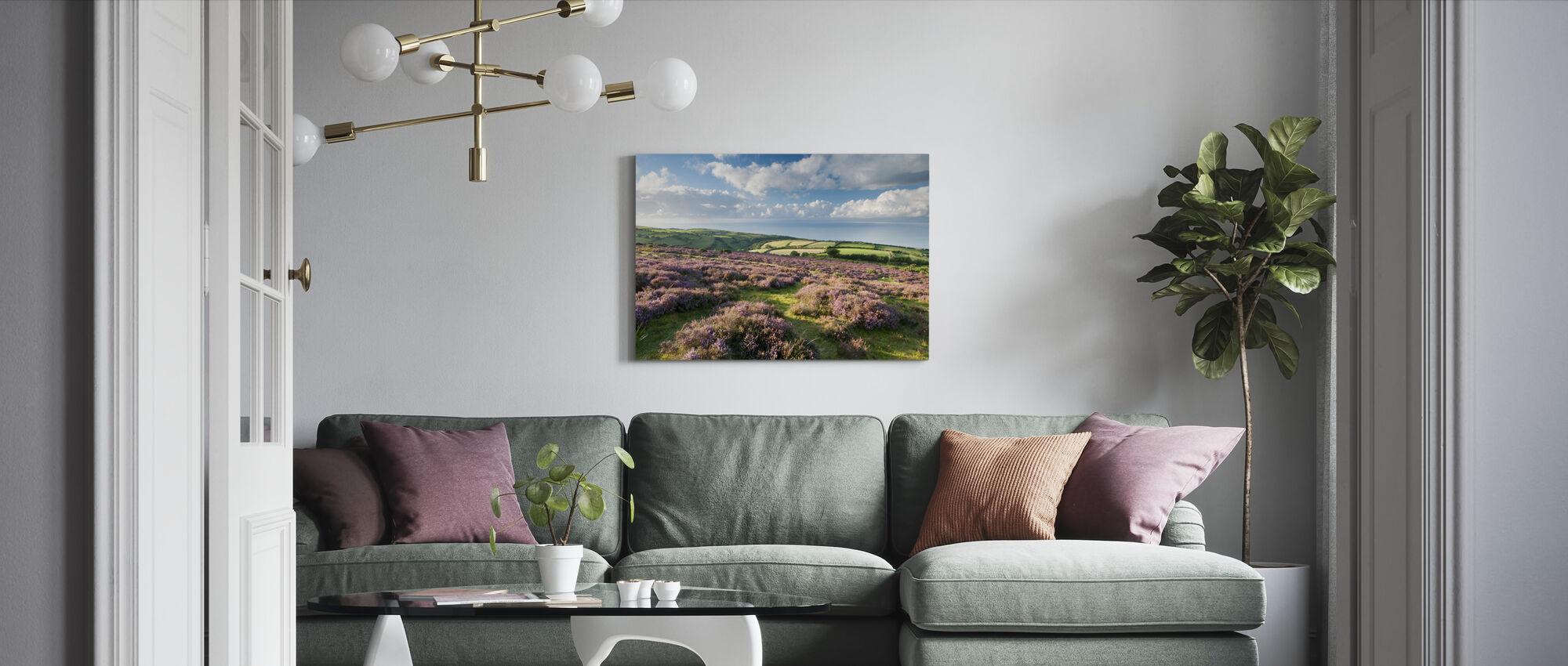 Flowering Heather - Canvas print - Living Room