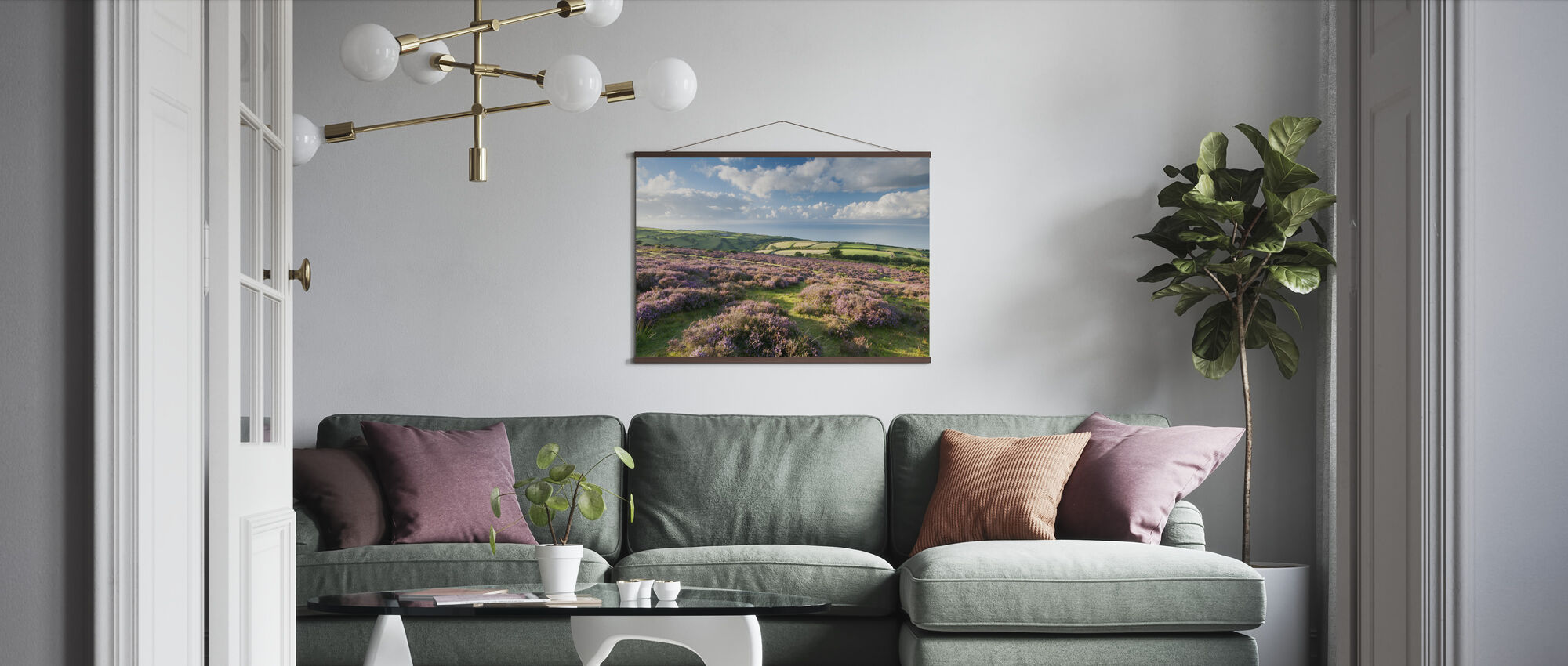 Flowering Heather - Poster - Living Room