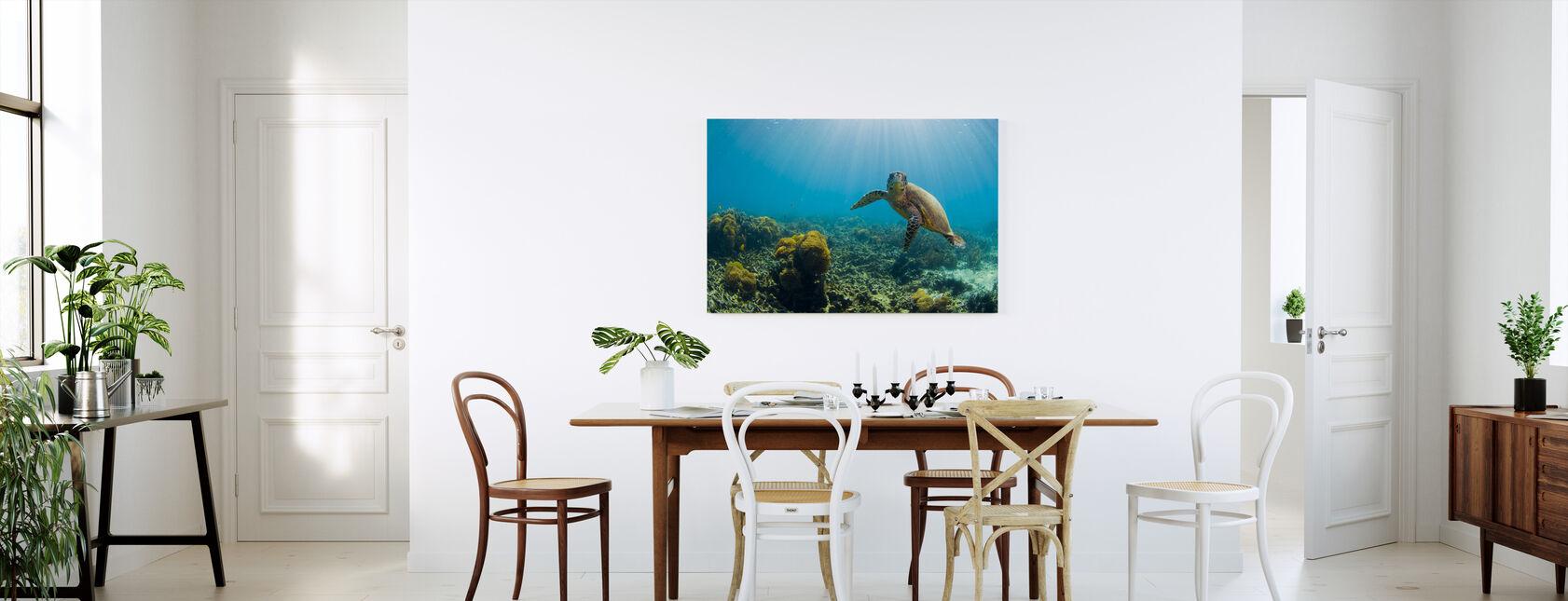 Charming Turtle - Canvas print - Kitchen
