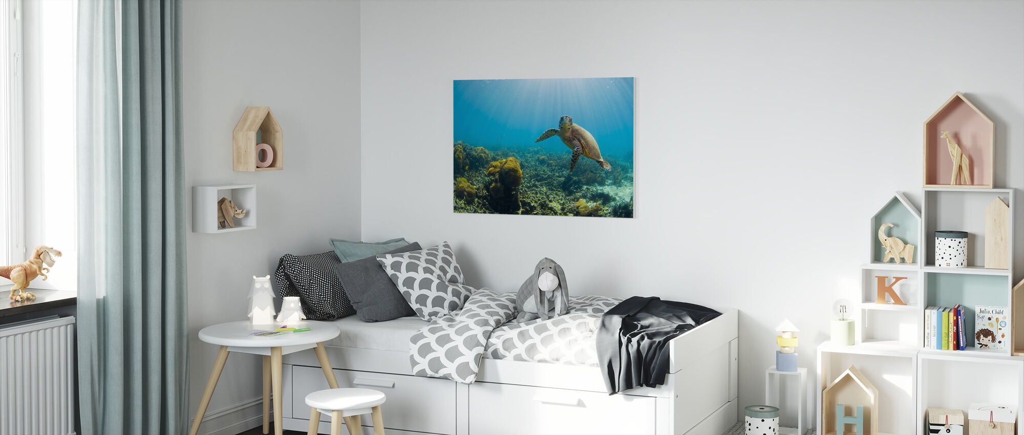 Charming Turtle - Canvas print - Kids Room