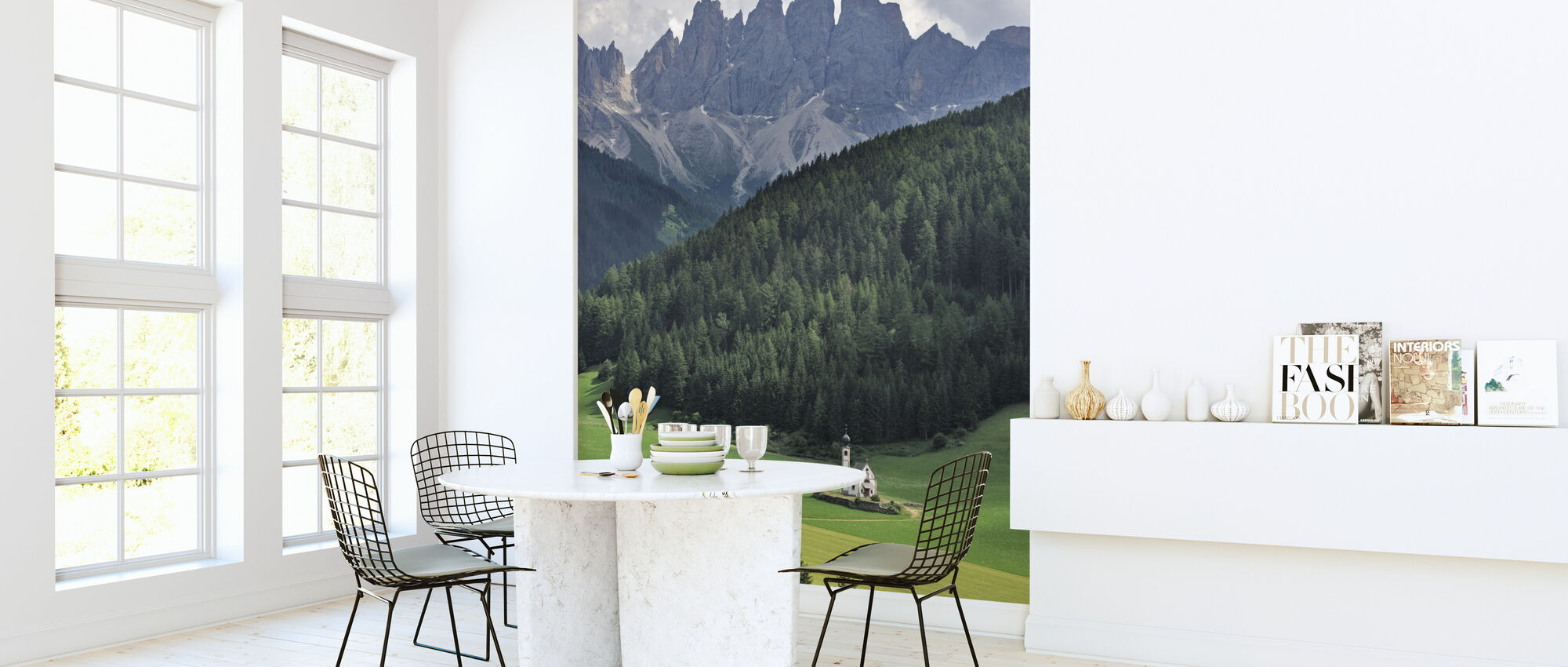 At the Foothills of the Dolomites - Wallpaper - Kitchen