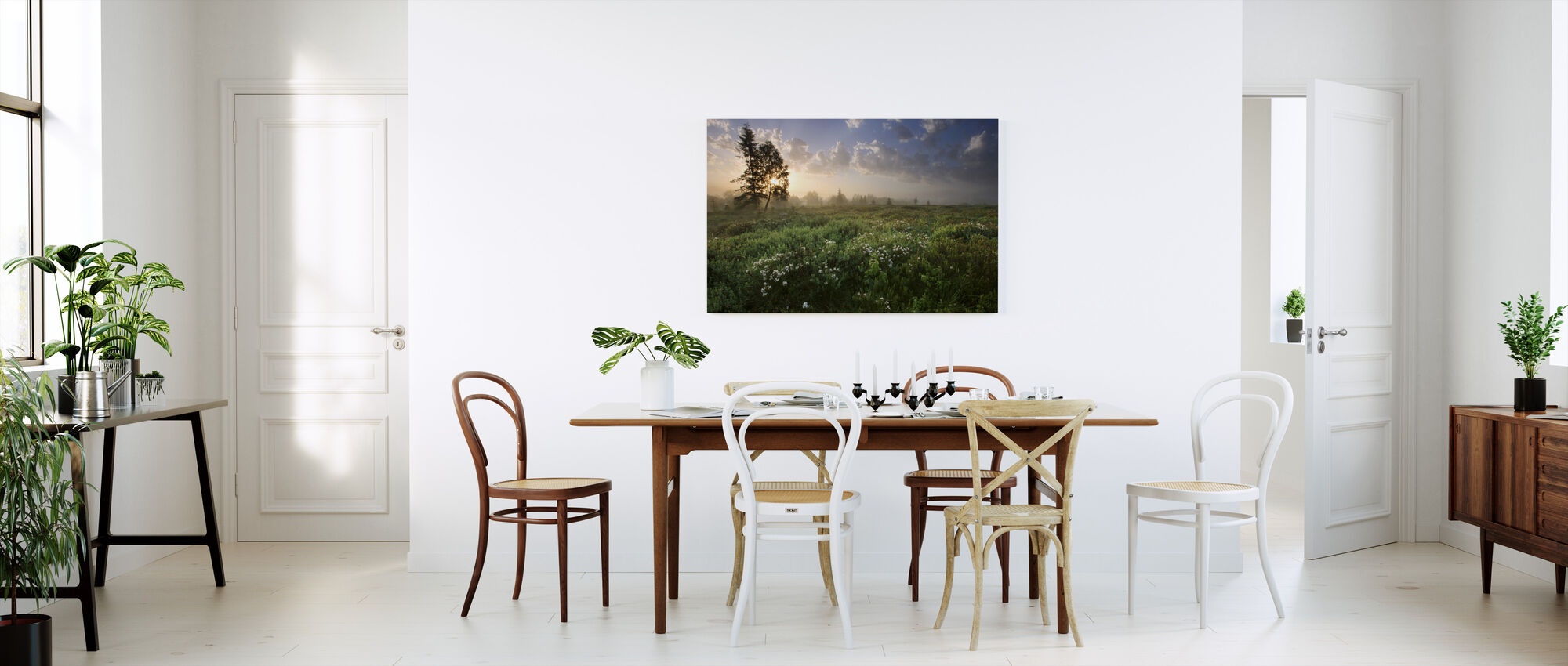 Delightful Meadow at Dawn - Canvas print - Kitchen