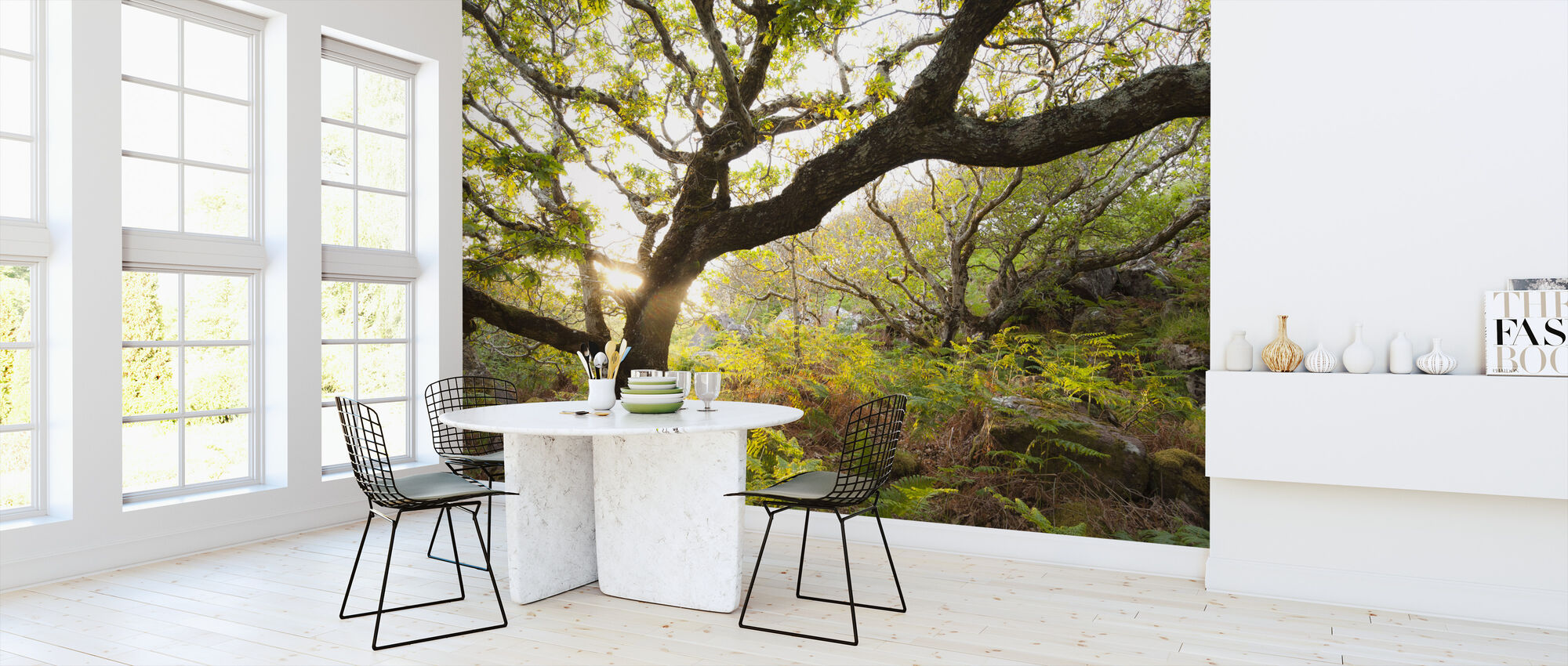 Store Egetræ - Tapet - Køkken