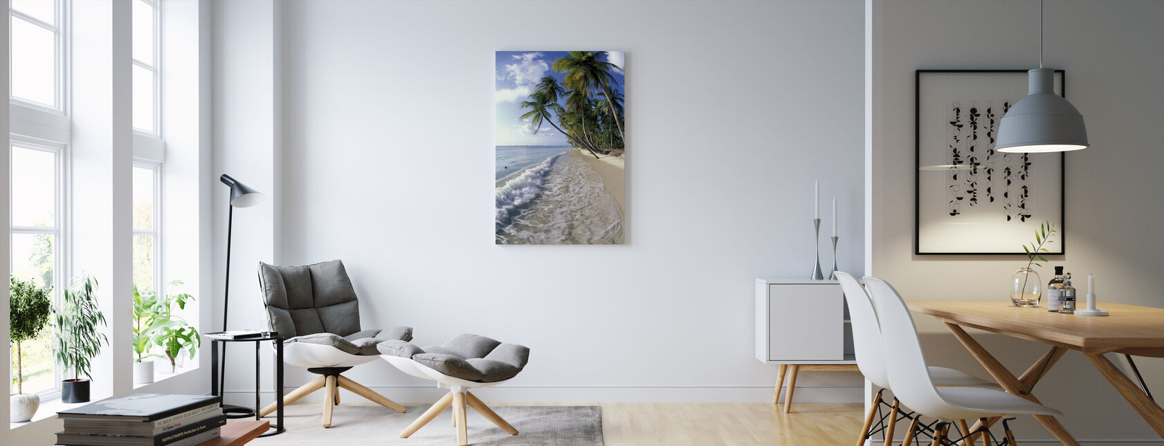 Tropical Seashore - Canvas print - Living Room