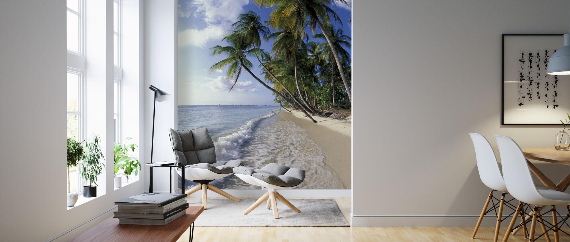 Tropische kust - Behang - Woonkamer