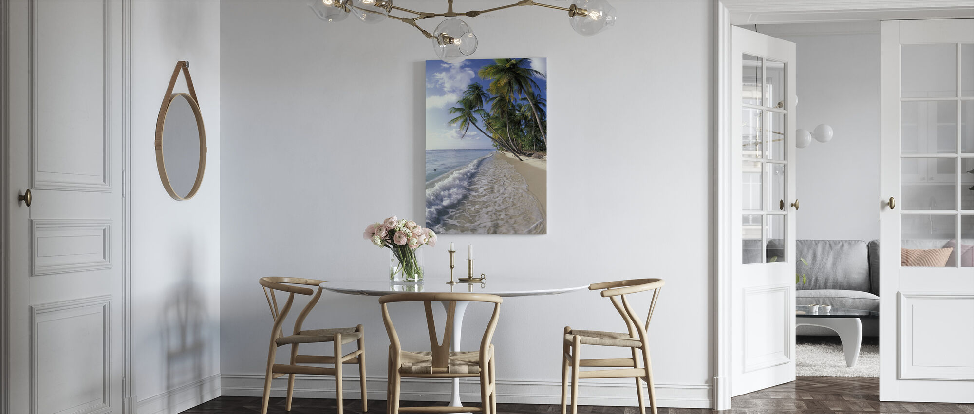 Tropical Seashore - Canvas print - Kitchen