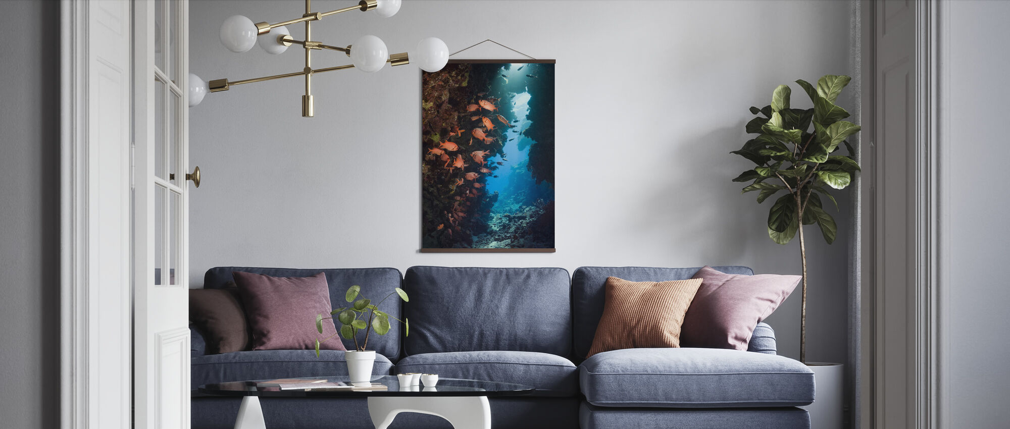 Rode Soldierfish - Poster - Woonkamer