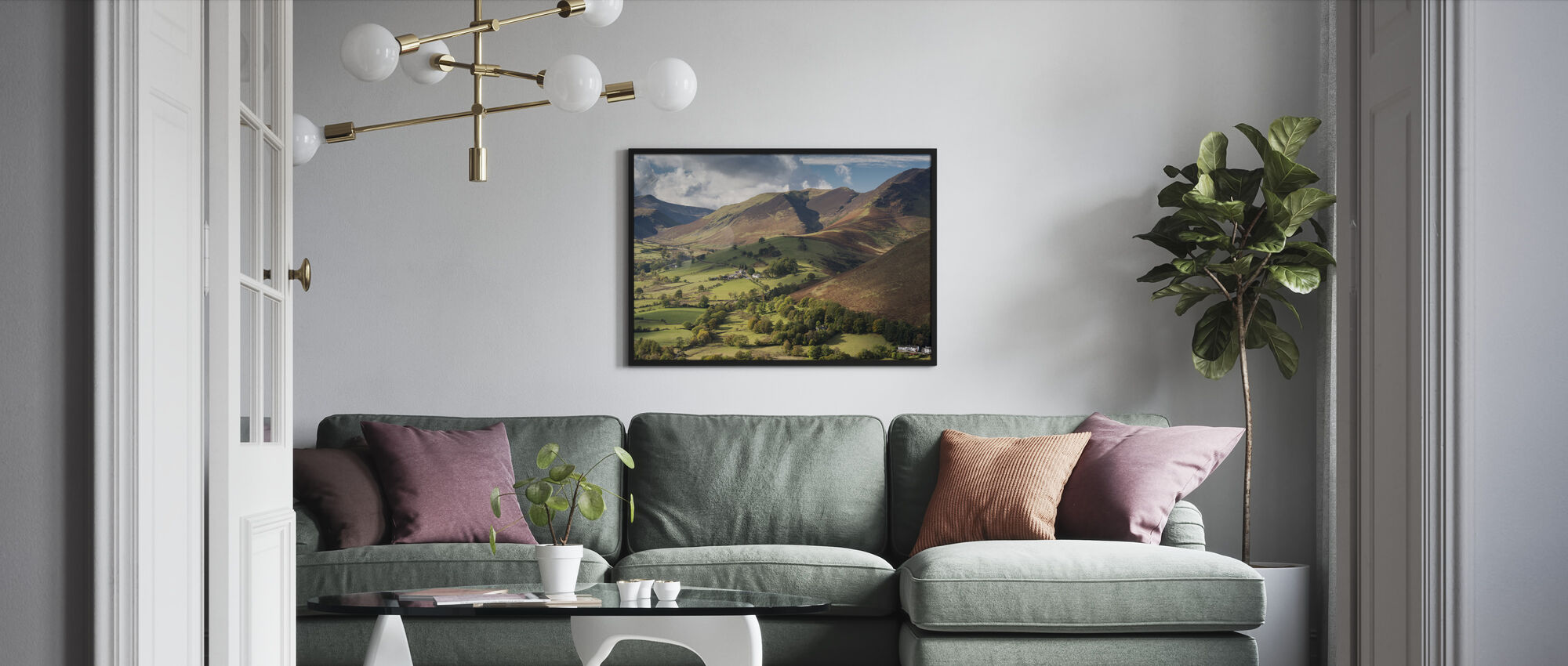 Newlands Valley - Framed print - Living Room
