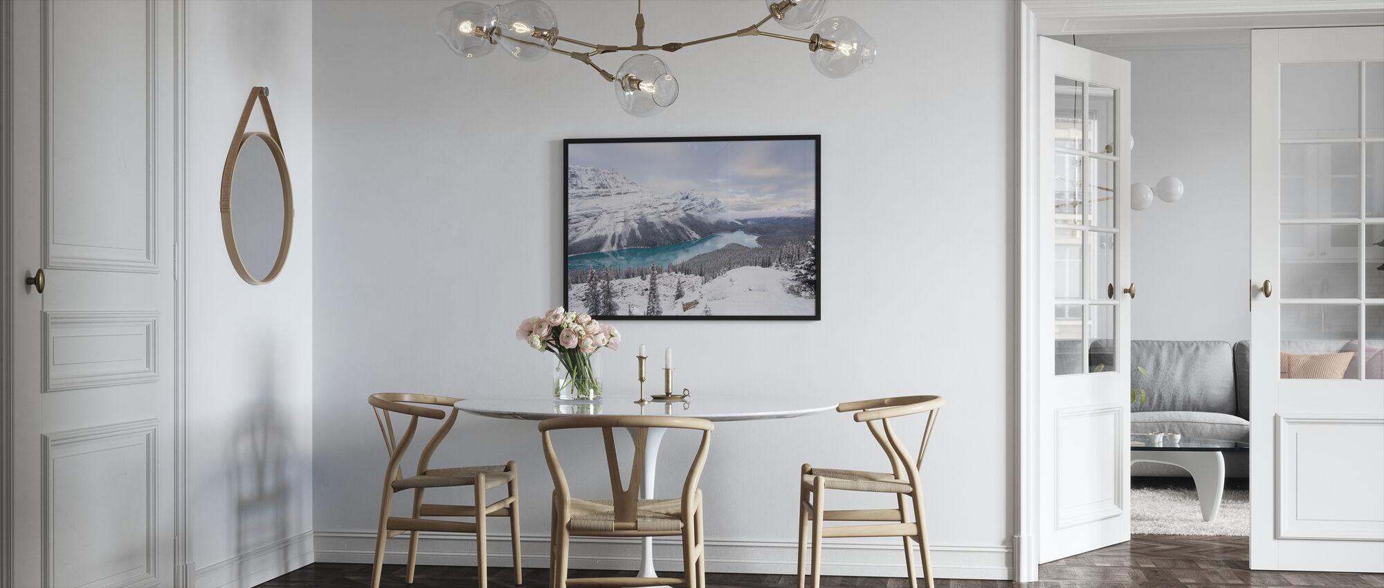 Glacial Lake - Framed print - Kitchen