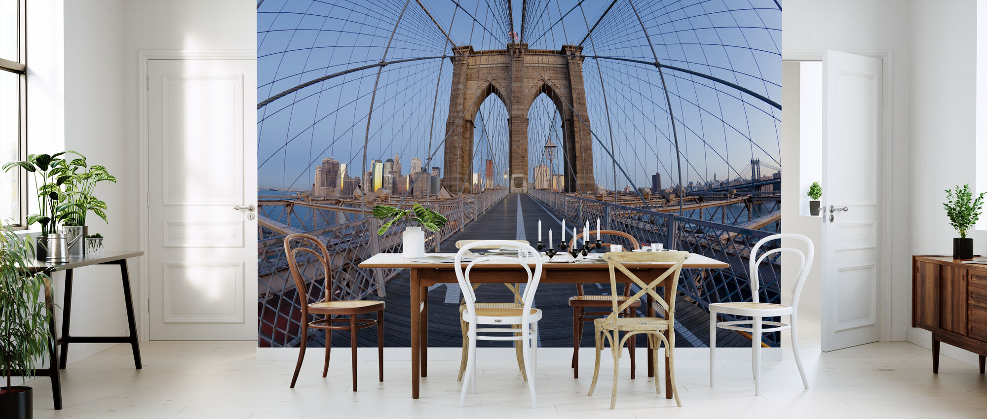 Brooklyn Bridge Walkway - Wallpaper - Kitchen