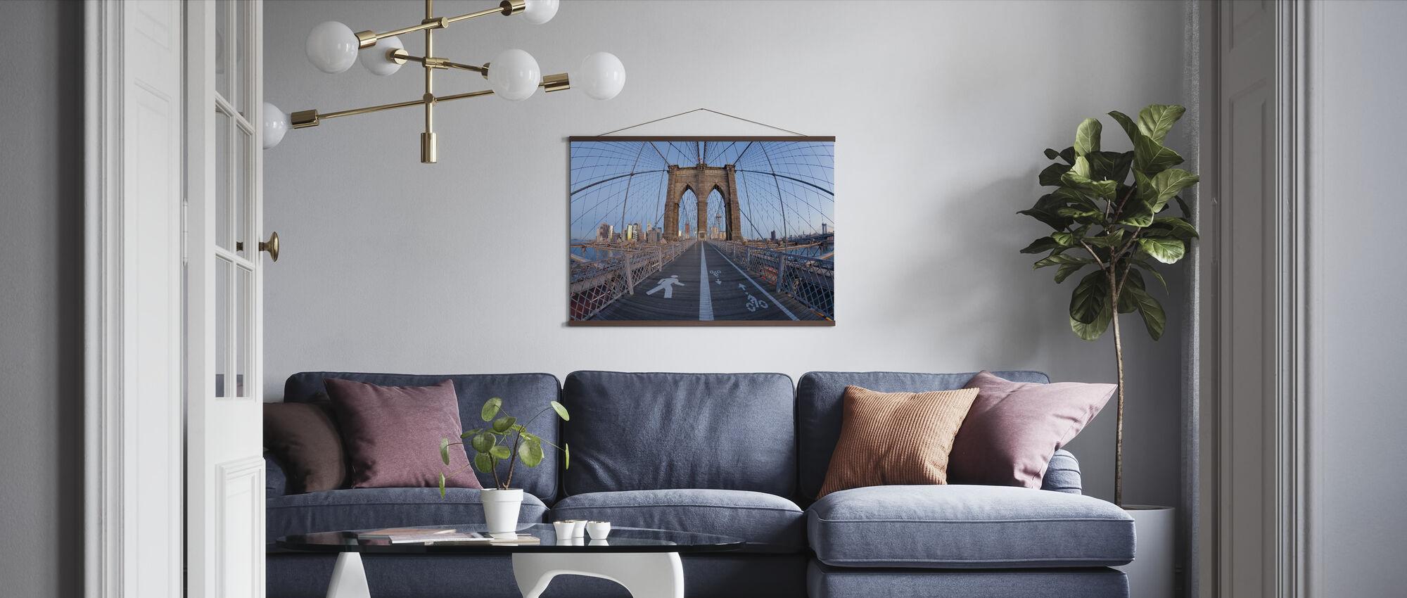 Brooklyn Bridge Walkway - Poster - Living Room