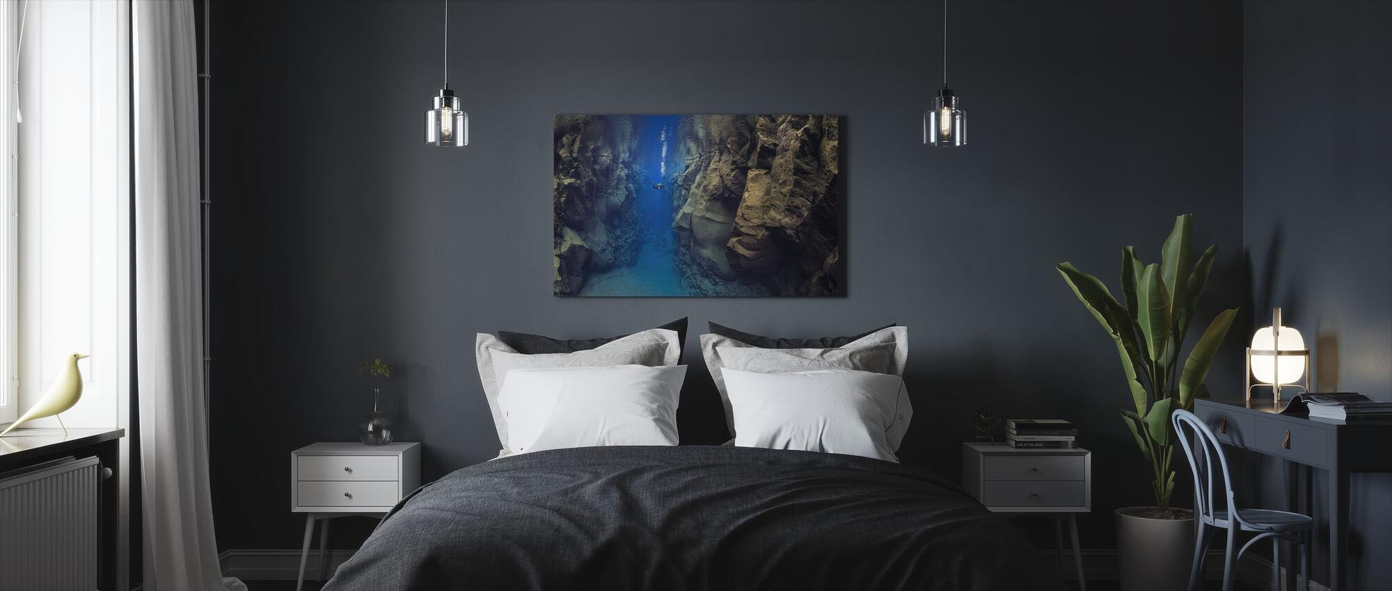 Diver Between Tectonic Plates - Canvas print - Bedroom