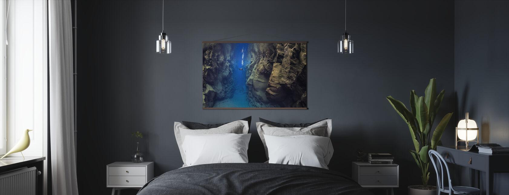Dykare mellan tektoniska plattor - Poster - Sovrum