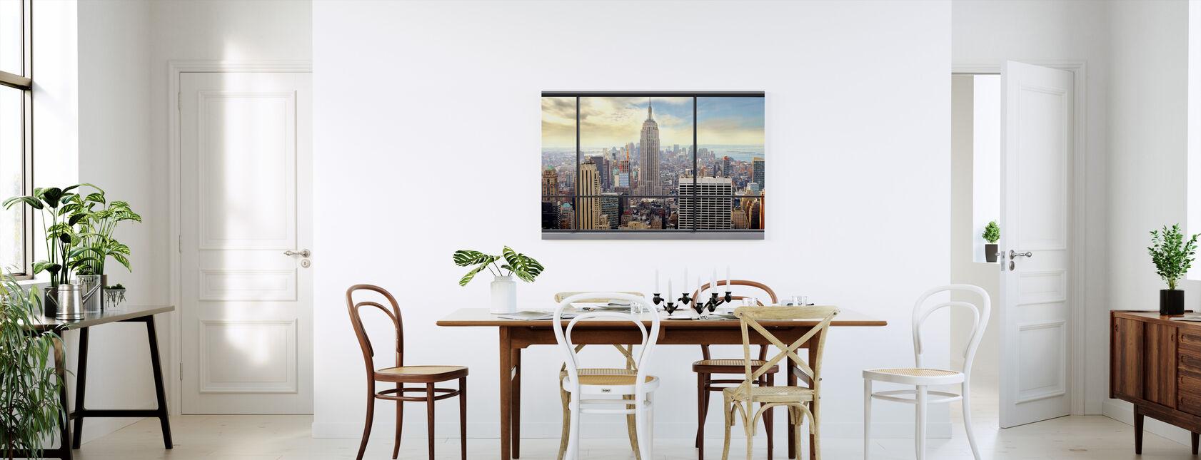 Penthouse Raam Uitzicht - Canvas print - Keuken