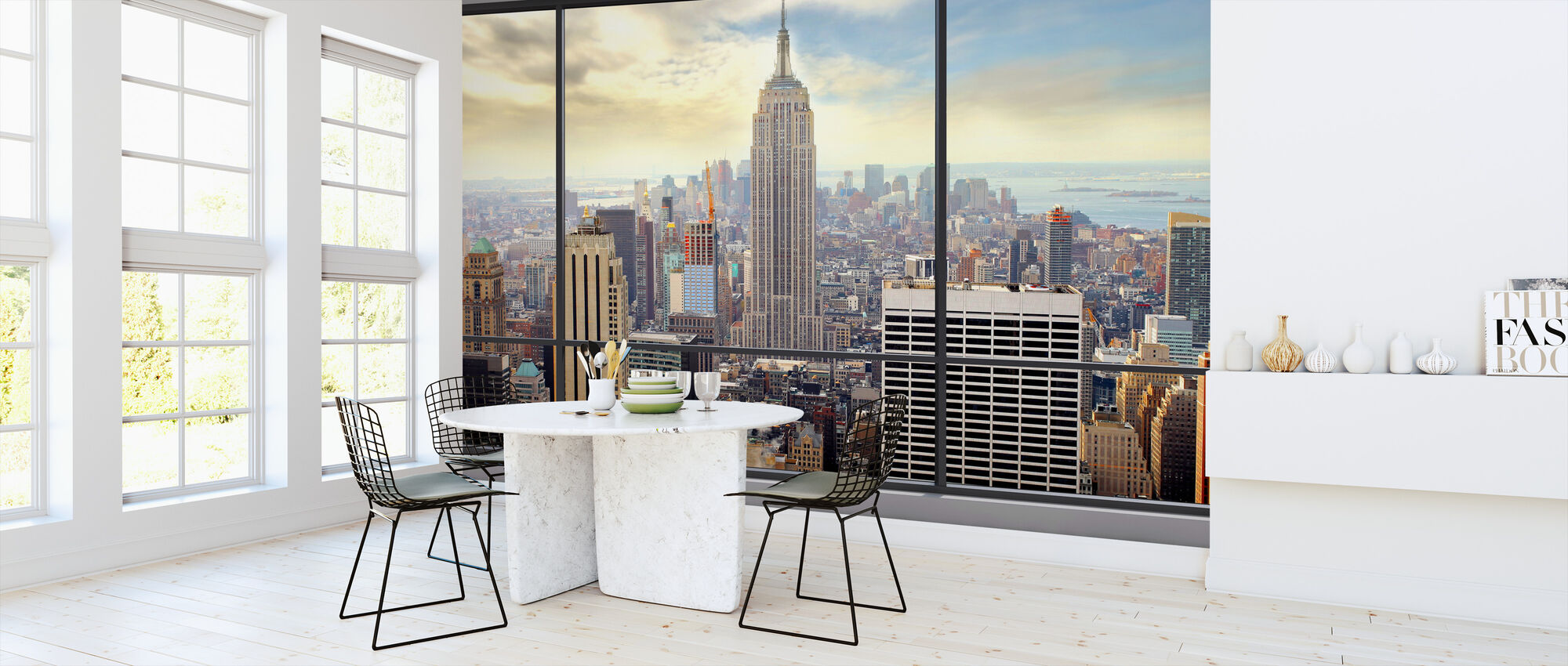 Penthouse Window View - Wallpaper - Kitchen