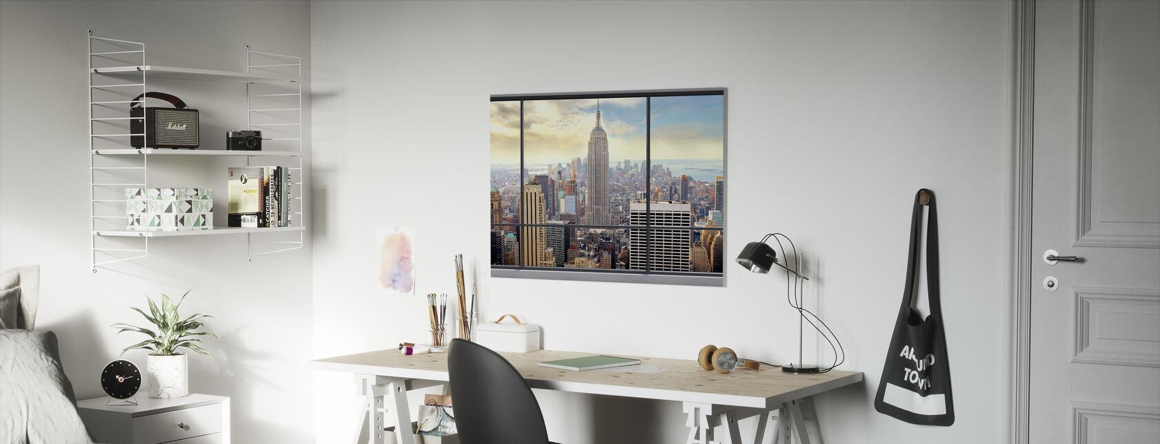 Penthouse Window View - Canvas print - Kids Room