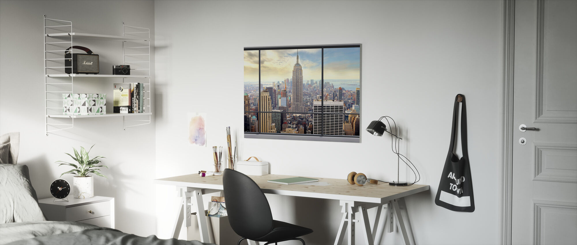 Penthouse Window View - Canvas print - Kids Room