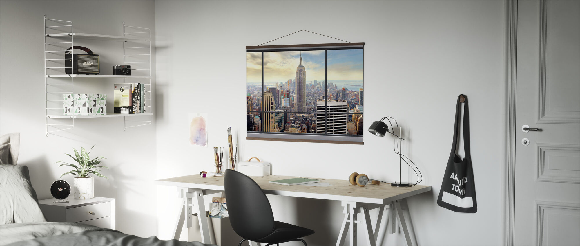 Penthouse Window View - Poster - Office