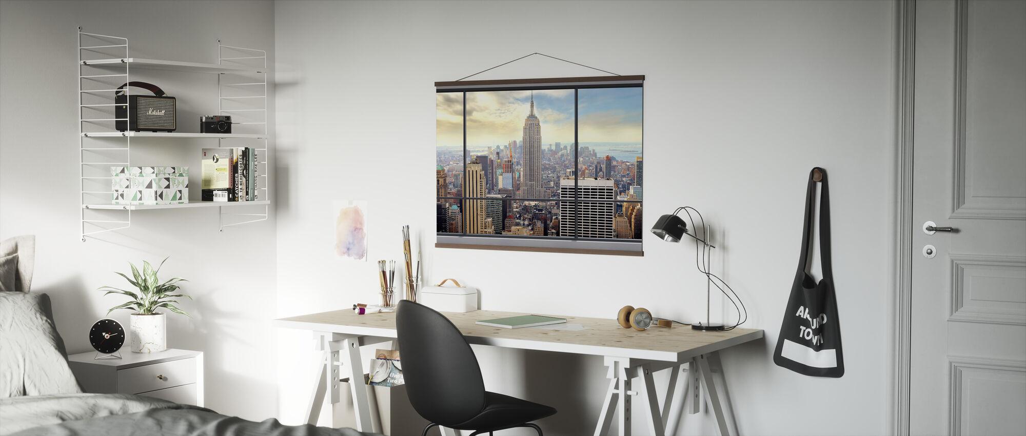Penthouse Raam Uitzicht - Poster - Kantoor