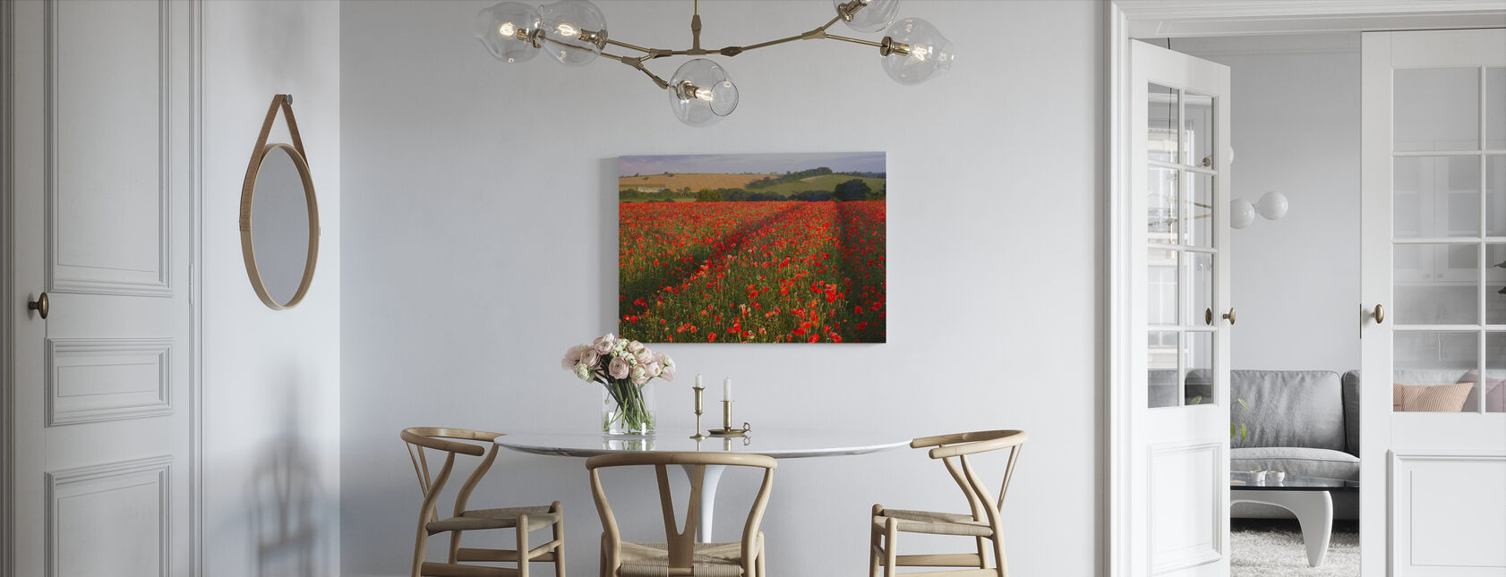 Scarlet Field - Canvas print - Kitchen