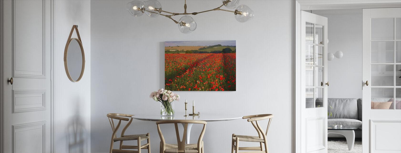 Scarlet Field - Canvas print - Kitchen