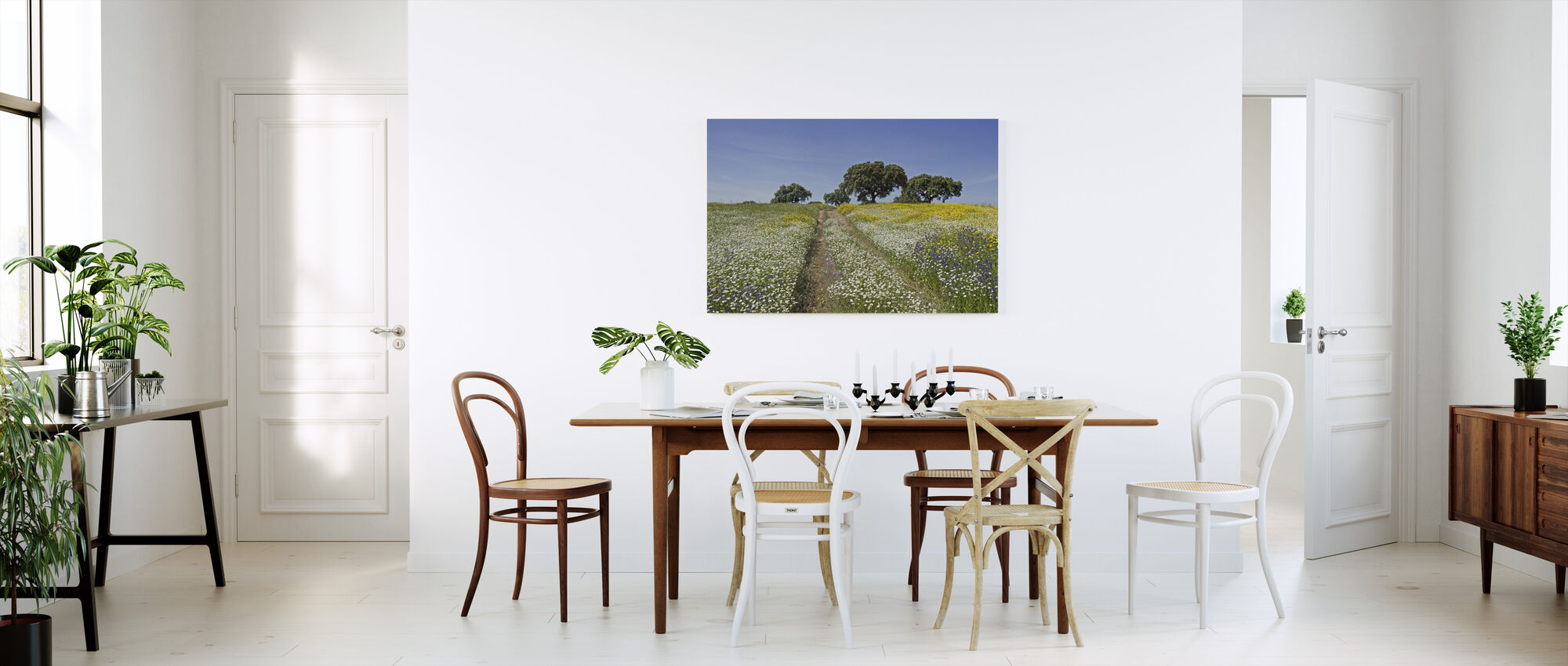 Cork Oaks and Flowering Meadow - Canvas print - Kitchen