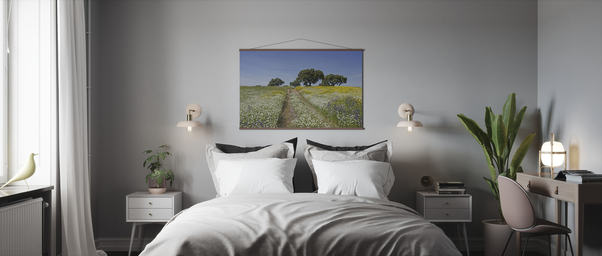 Cork Oaks and Flowering Meadow - Poster - Bedroom