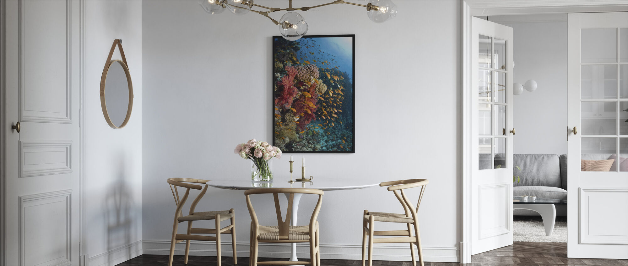 Soft Corals - Framed print - Kitchen