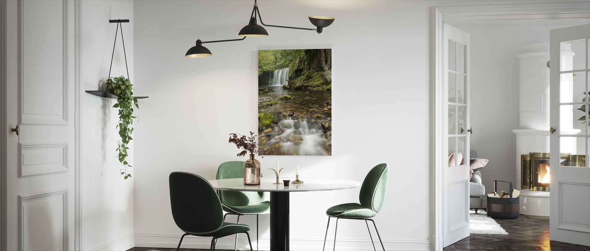Clear Water Stream - Canvas print - Kitchen