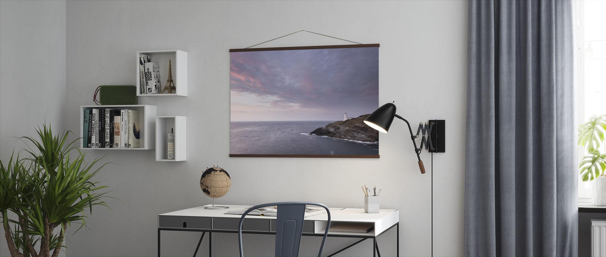 Trevose Lighthouse at Sunset - Poster - Office