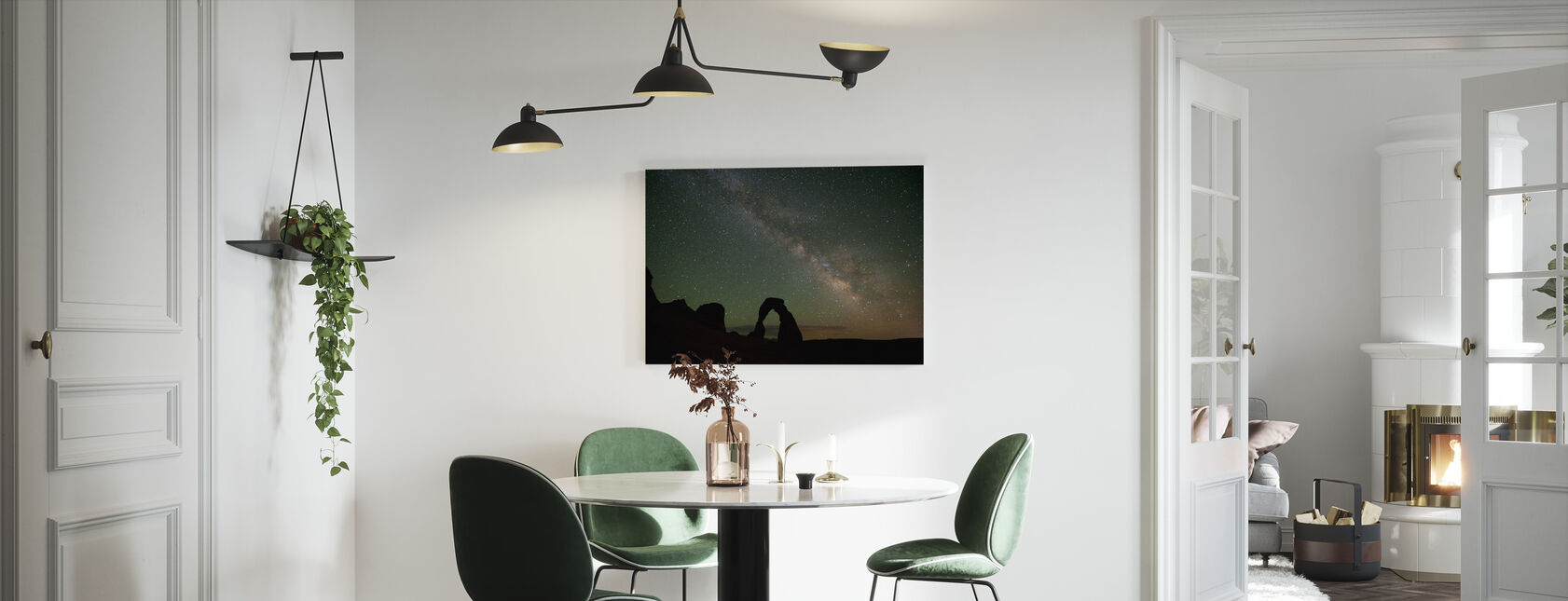 Stenen Boog en de Melkweg - Canvas print - Keuken