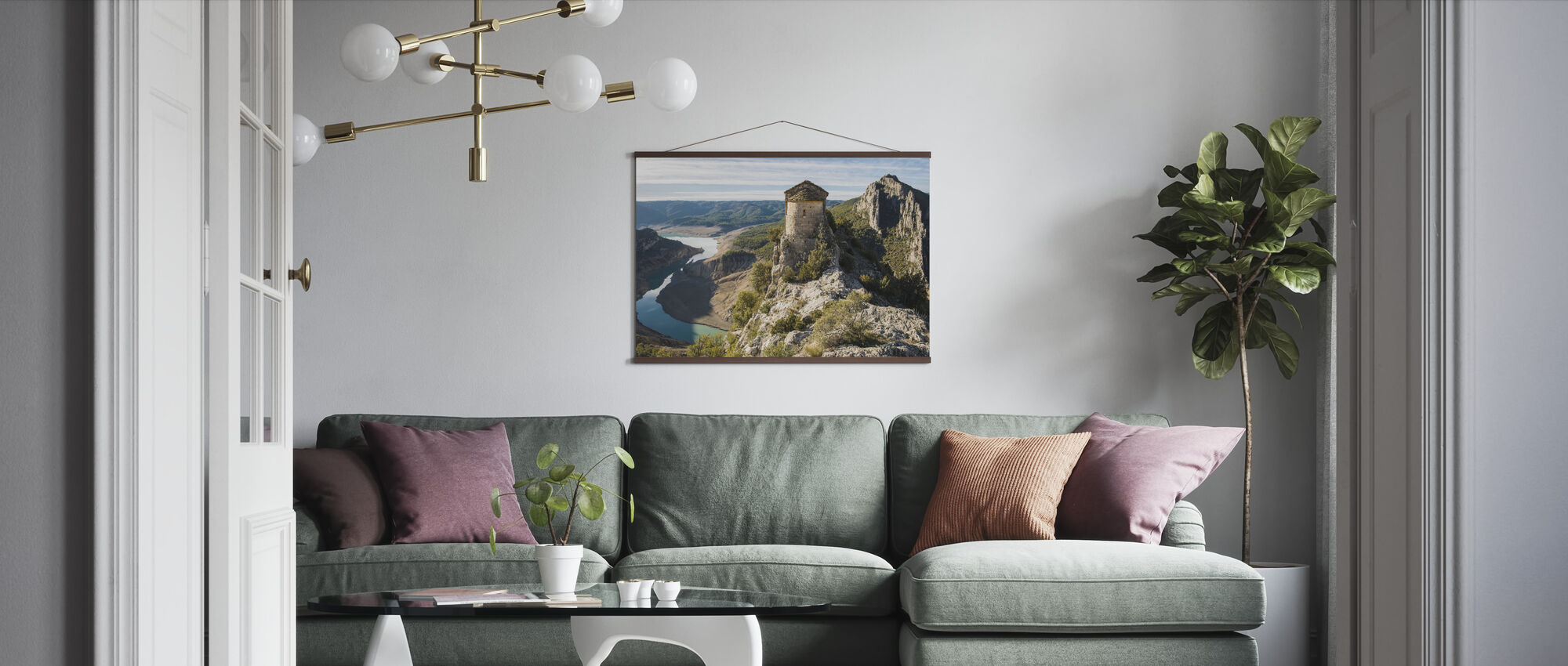 Romanesque Church - Poster - Living Room
