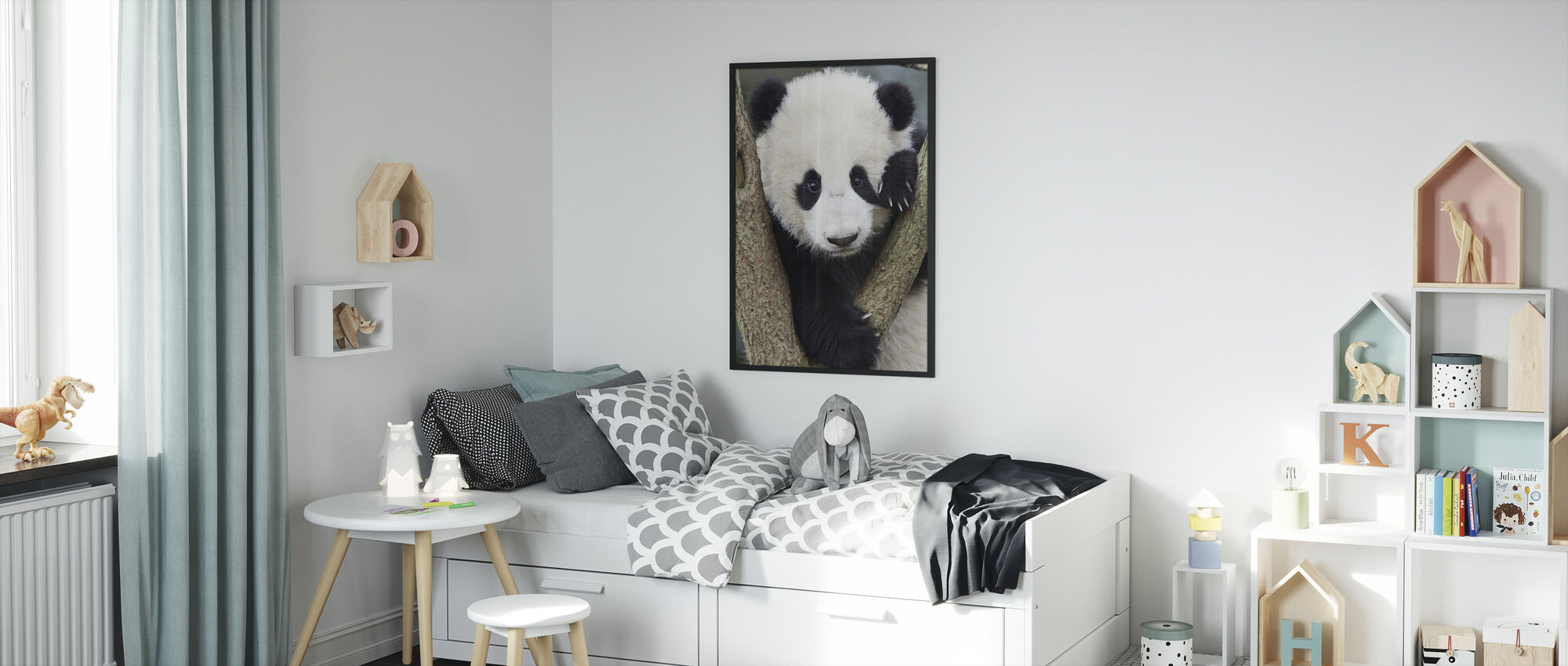 Giant Panda Cub - Framed print - Kids Room