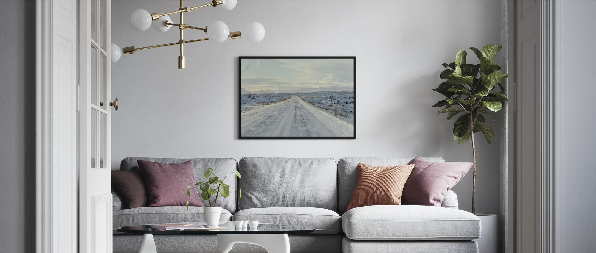 Iceland Route 1 - Framed print - Living Room