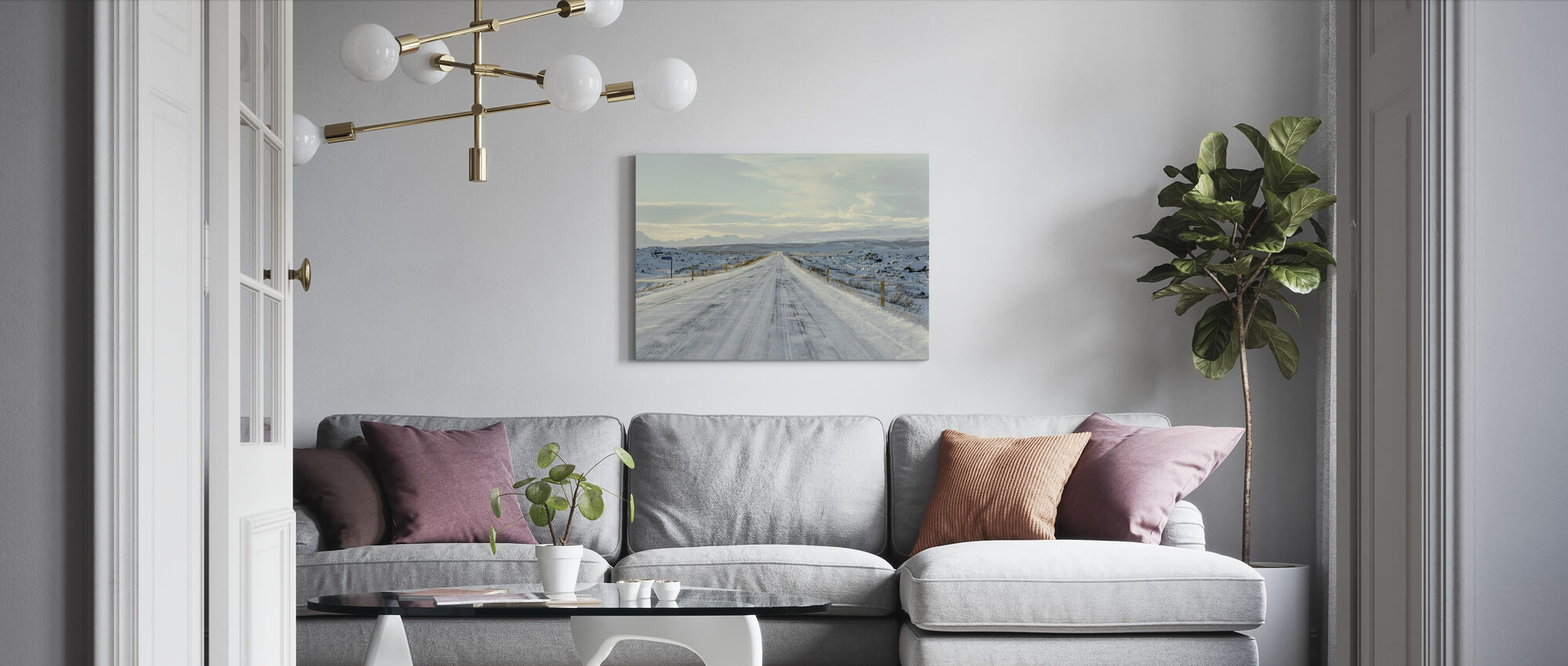 Iceland Route 1 - Canvas print - Living Room
