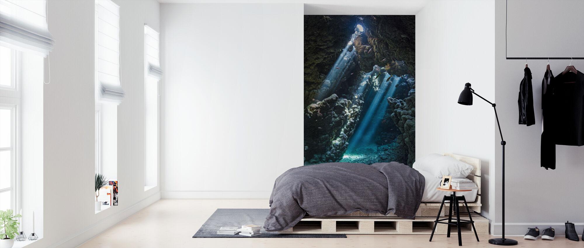 Underwater Cavern - Wallpaper - Bedroom