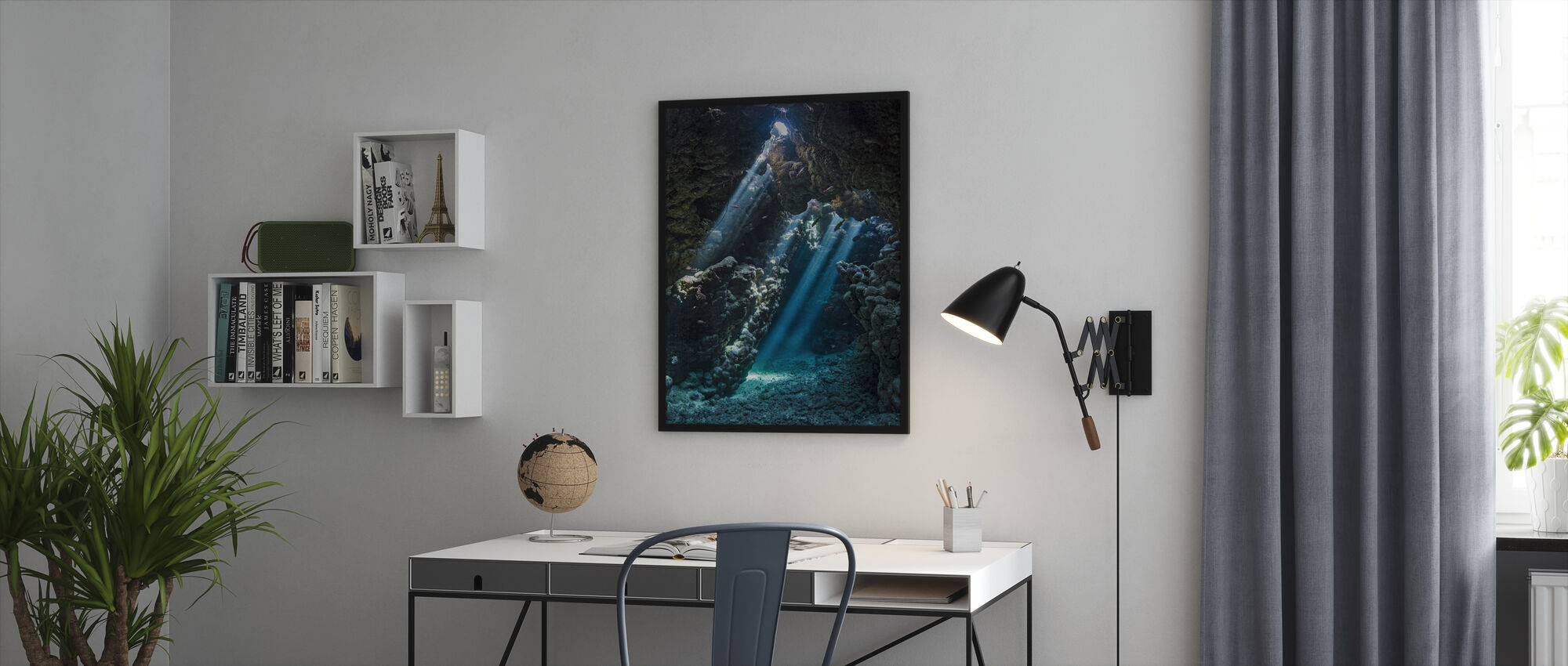 Underwater Cavern - Framed print - Office