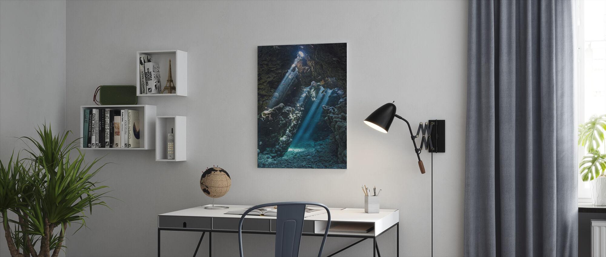 Undervattens grotta - Canvastavla - Kontor